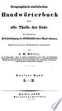 Geographisch-statistisches Handwörterbuch über alle Theile der Erde