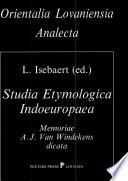 Studia Etymologica Indoeuropaea