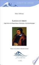 illustration du livre Langue et droit