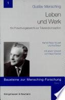 Gustav Mensching - Leben und Werk