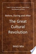 Before  During and After the Great Cultural Revolution