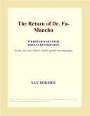 The Return of Dr  Fu Manchu  Webster s Spanish Thesaurus Edition