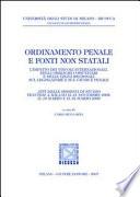 Ordinamento penale e fonti non statali