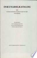 Inkunabelkatalog des Germanischen Nationalmuseums Nürnberg