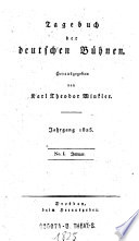 Tagebuch der deutschen Bühnen