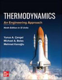 Thermodynamics An Engineering Approach Si