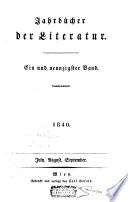 Jahrb  cher der Literatur