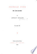 The Writings of Anthony Trollope  Phineas Finn