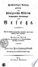 Vollständiger Auszug aller im Königreiche Böheim kundgemachten Verordnungen und Gesetze