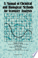 A Manual of Chemical   Biological Methods for Seawater Analysis