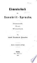 Elementarbuch der sanskrit sprache