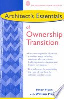 Architect s Essentials of Ownership Transition