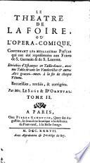 Le Theatre De La Foire Ou L Opera Comique