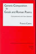 Generic composition in Greek and Roman poetry In Greek And Roman Poetry Remains One Of