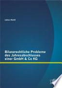 Bilanzrechtliche Probleme des Jahresabschlusses einer GmbH & Co KG