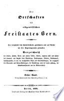 Die Ortschaften des eidgenössischen Freistaates Bern