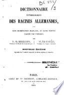Dictionnaire Etymologique des Racines Allemandes