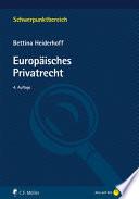 Heiderhoff, Europäisches Privatrecht