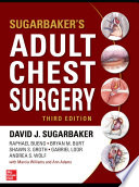 Sugarbaker's Adult Chest Surgery, 3rd edition Book Cover