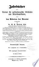 Jahrbücher, herausg. von G.C.F. Lisch