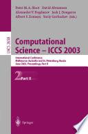 Computational Science   ICCS 2003