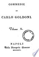 Commedie di Carlo Goldoni