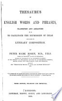 Thesaurus Of English Words And Phrases : ...