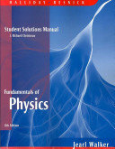 Student Solutions Manual for Fundamentals of Physics  8e