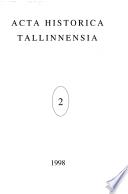 Acta Historica Tallinnensia