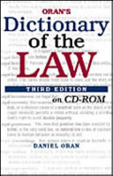 Oran s Dictionary of the Law CD ROM