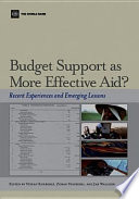 Budget Support as More Effective Aid
