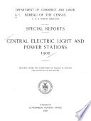 Central Electric Light and Power Stations  1902