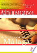 Administrativos de la Universidad de Malaga  Temario  Volumen Ii Ebook