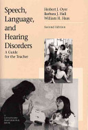Speech  Language  and Hearing Disorders