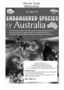Endangered Species of Australia Book