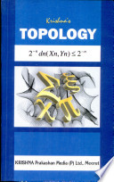 Krishna s Topology   For Honours and Post Graduate Students of All Indian Universities