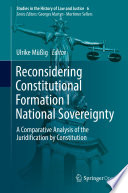 Reconsidering Constitutional Formation I National Sovereignty