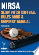 Nirsa Slow Pitch Softball Rules Book & Umpires' Manual