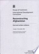 Reconstructing Afghanistan : 2005...