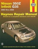 Nissan 350z Infiniti G35 2003 2008