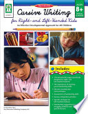 Cursive Writing For Right Left Handed Kids Ages 8 13