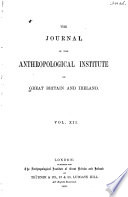 The Journal of the Anthropological Institute of Great Britain and Ireland Book PDF