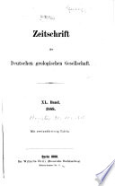 Zeitschrift der Deutschen Geologischen Gesellschaft