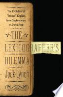 The Lexicographer s Dilemma