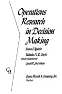 Operations Research In Decision Making