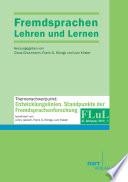 Fremdsprachen Lehren und Lernen 2013