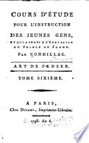 Oeuvres  Dissertation sur la libet    Extrait des Sensations  Trait   des animaux