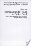 Komponierende Frauen Im Dritten Reich
