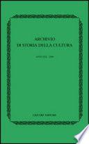 Archivio di storia della cultura  2006