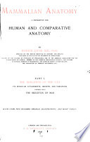Mammalian Anatomy  a Preparation for Human and Comparative Anatomy